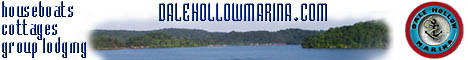 Dale Hollow marina offers housboat rentals and rental cabins!